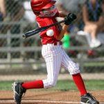 Swing hard for the beginning hitter.