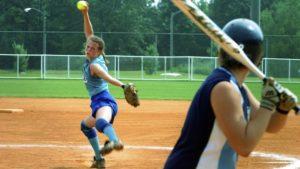 slap hitting softball